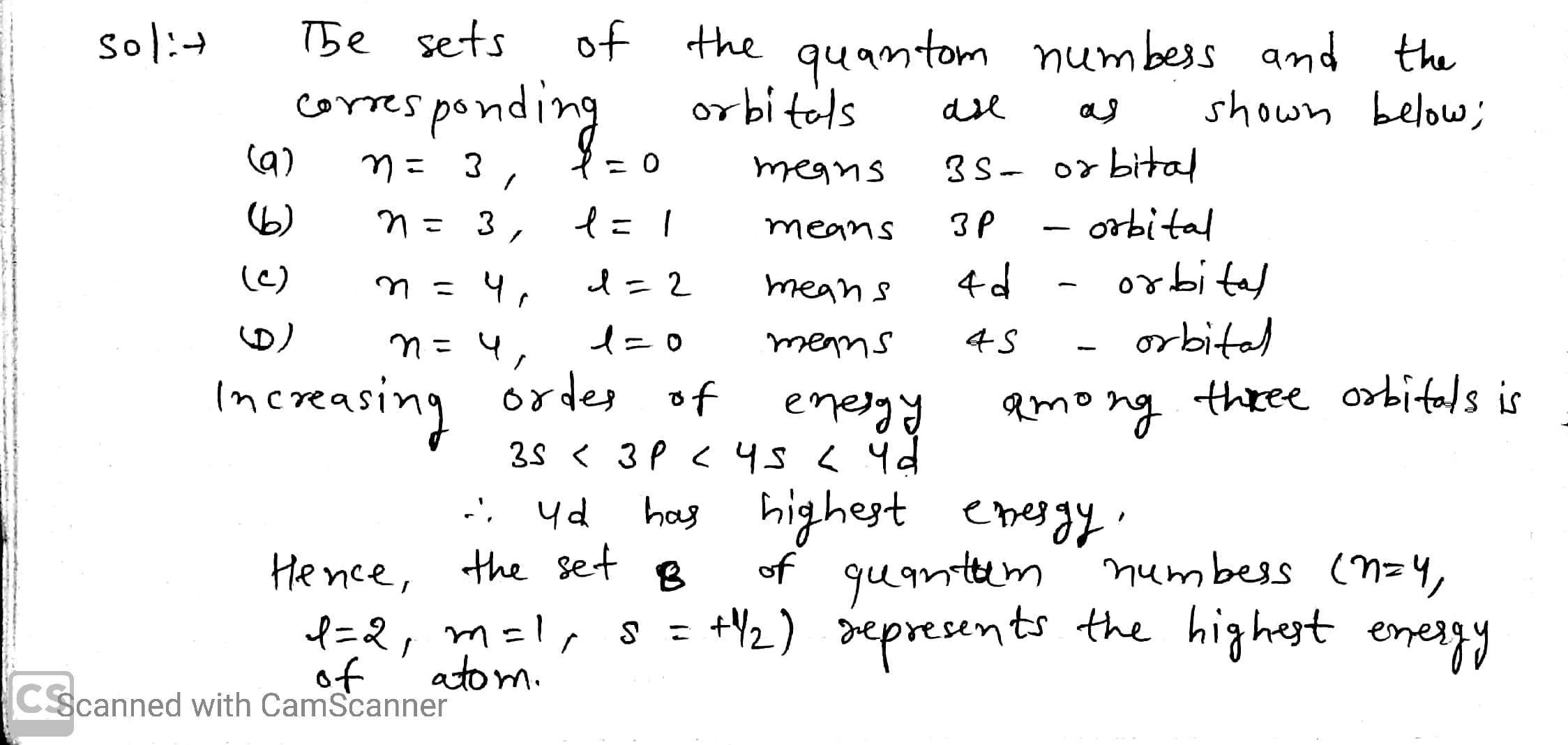 For Which Of The Following Sets Of Four Quantum Numbers An