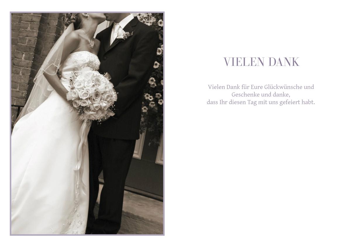 Danksagung Hochzeit Blaue Blumen