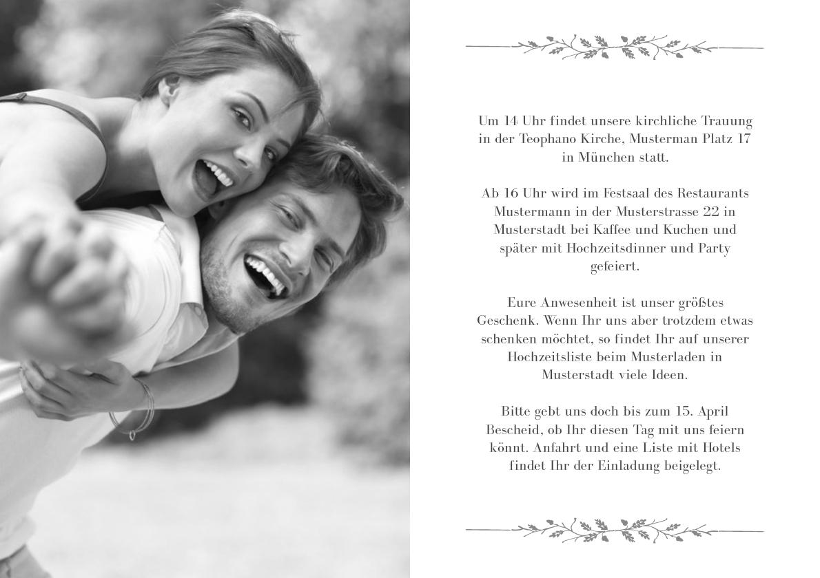 Einladung Hochzeit Bianco