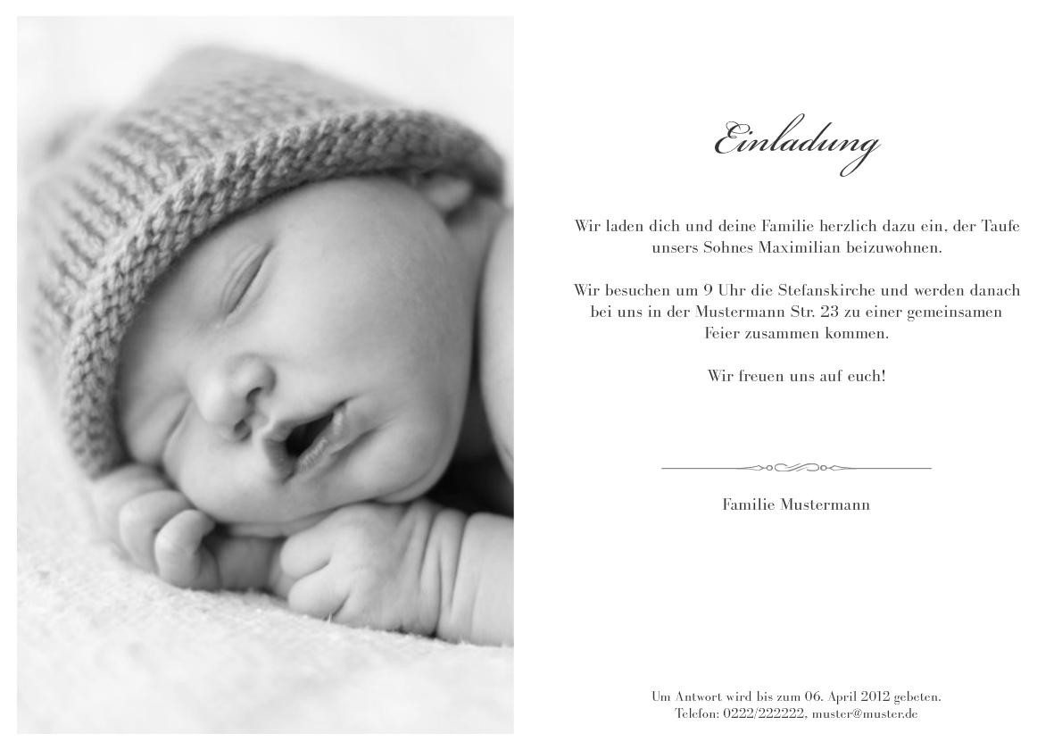 Einladung Taufe Leonore
