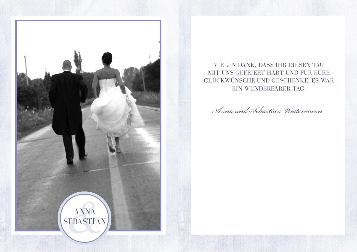 Hochzeit Danksagung Papeterie