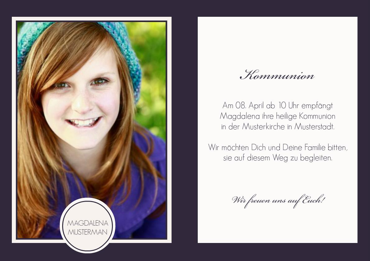 Einladung Kommunion Lilia 1
