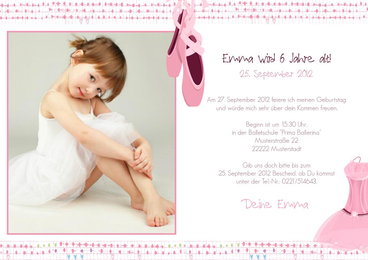 Kindergeburtstag Prima Ballerina