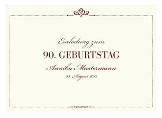 Einladungskarte 90 Geburtstag Royal
