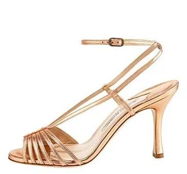 Manolo Blahnik Ankle-Wrap Strappy Sandal, $825, bergdorfgoodman.com