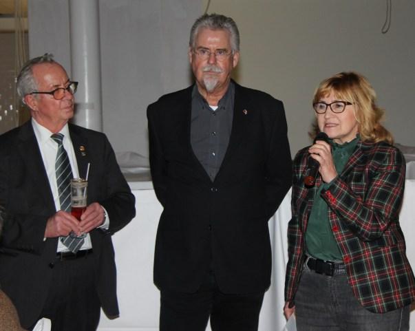 Otto Meurer (links), Stadtpräsidentin Swetlana Krätzschmar