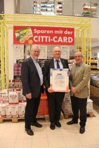 CITTI B. Bartelsen (Mitte), Otto Meurer (rechts)
