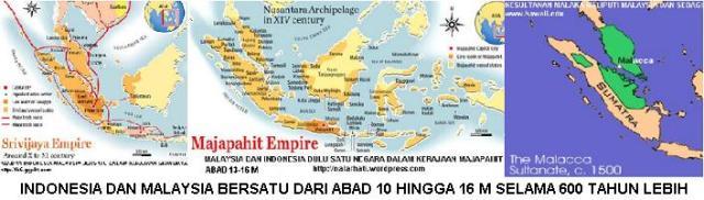 peta Indonesia dan Malaysia Bersatu