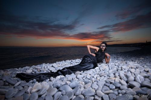 The mermaid and the sunset