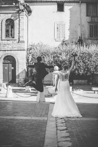 Les mariés heureux