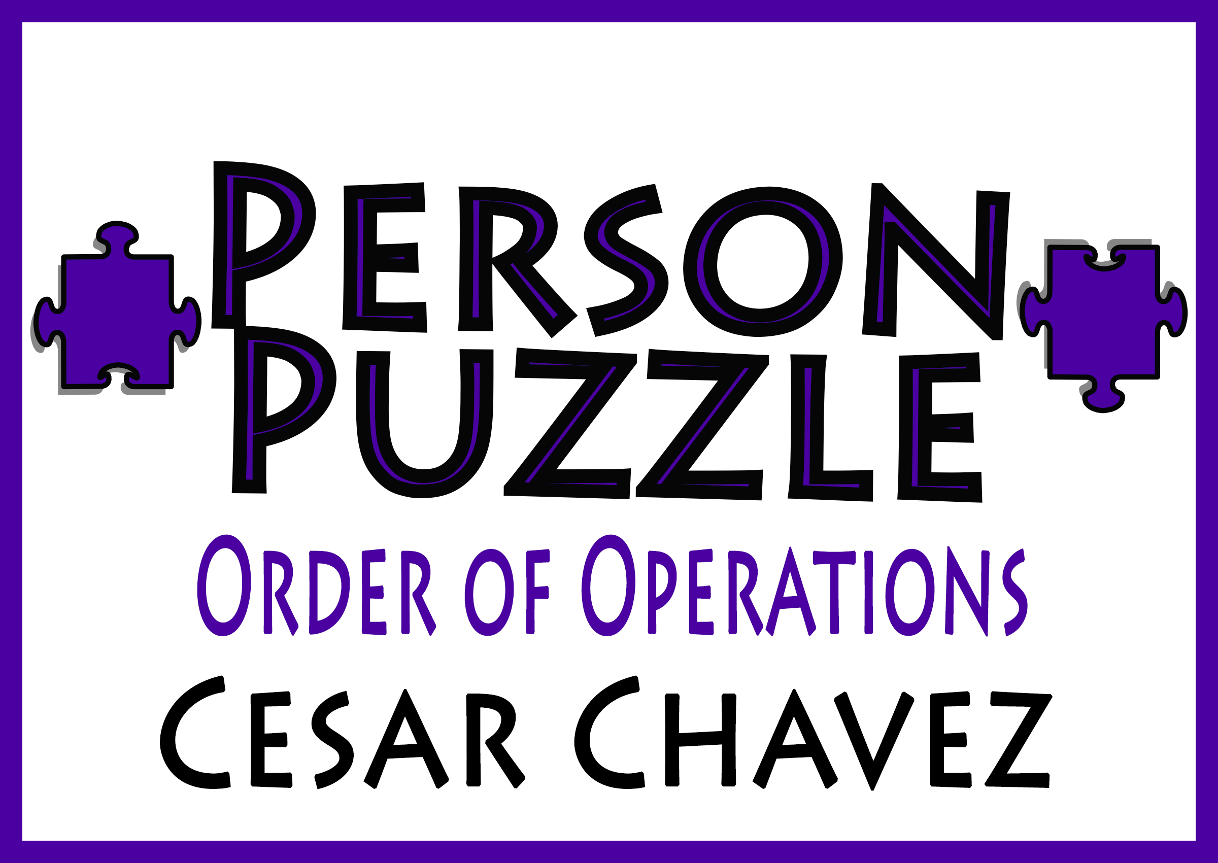 Person Puzzle Order Of Operations