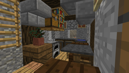 minecraft shack kitchen rustic medieval fish forums