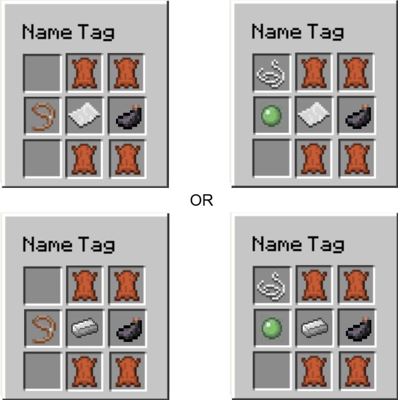Minecraft Name Tag Recipe Kayarecipeco