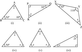 The Triangle and its Properties worksheet for class 7