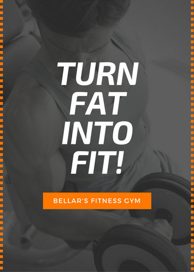 Black Orange Gym Fitness Advertisement Flyer  Templates