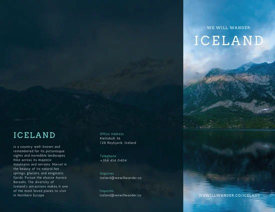 Iceland Travel Brochure  Templates by Canva