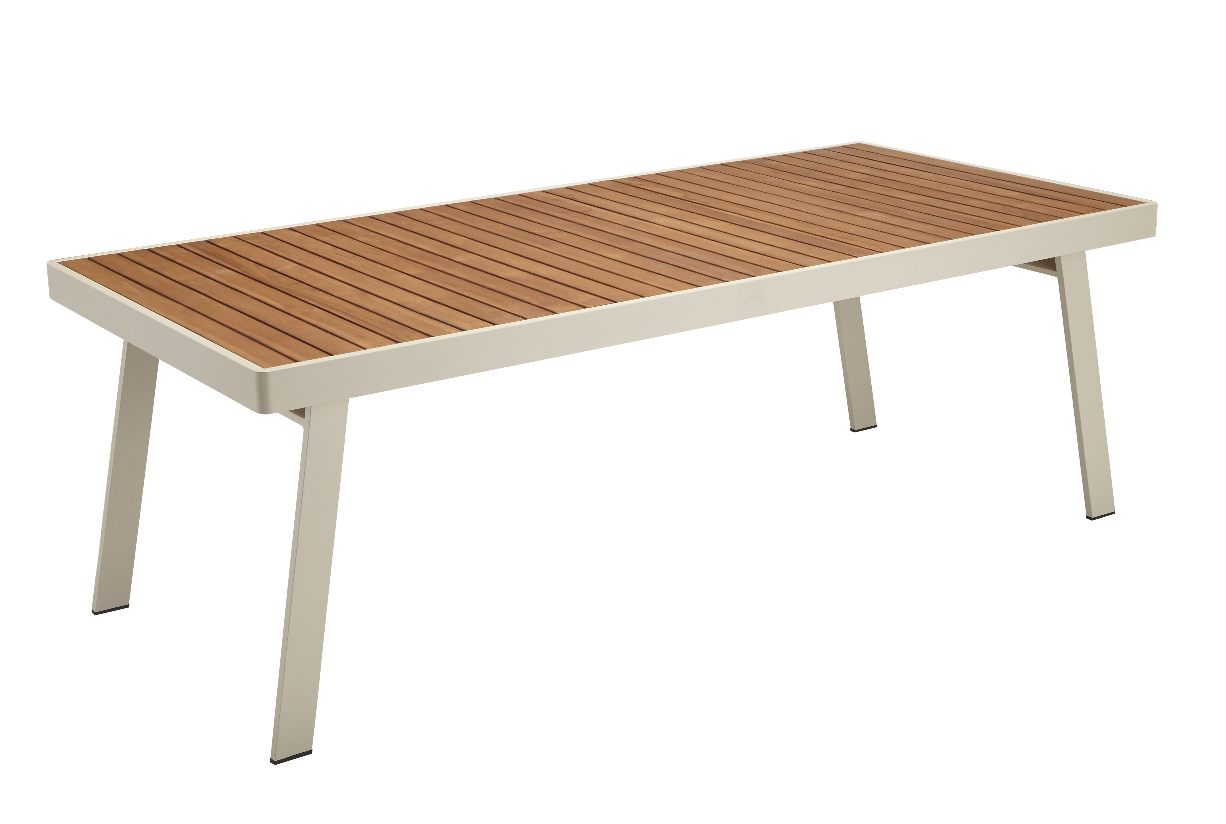 Table De Jardin En Teck Carrefour Table Sola Rectangulaire Beige 680177