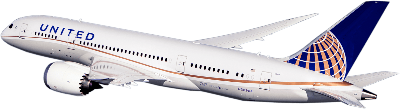 Resultado de imagen para united airlines Boeing 787 png