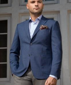 Sacou barbati casual albastru Slim Fit Gentlemen`s Corner - Ambassador - NOU!