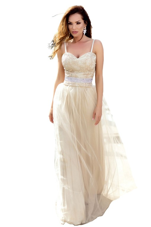 V739-221 Rochie eleganta cu bretele subtiri