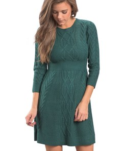 A565-12 Rochie scurta, casual, stil pulover tricotat