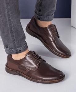Pantofi barbati Piele Agar maro casual