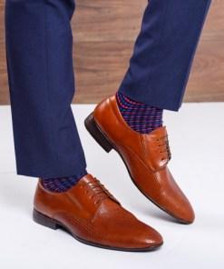 Pantofi barbati Piele Joni maro eleganti