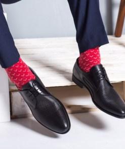 Pantofi barbati Piele Pavvel negri eleganti