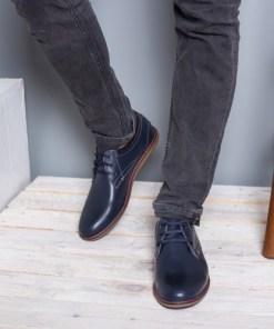 Pantofi barbati Piele Roby bleumarin casual
