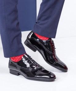 Pantofi Piele Godbey negri eleganti