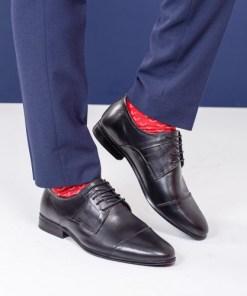 Pantofi Piele Najim negru eleganti