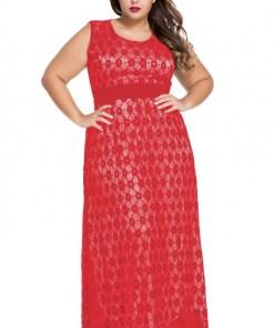 Rochie Din Dantela Red Flowers XXL