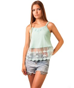 Top Dama Superficial It All Vernil