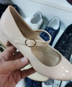 Pantofi Tranio bej cu toc