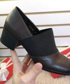 Pantofi Vitapi maro cu toc