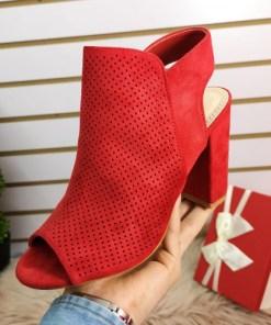 Sandale Mikila rosii cu toc
