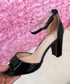 Sandale Misila negre cu toc