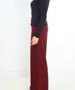 Pantaloni zara dark burgundyi