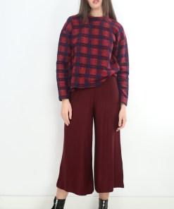 Pantaloni z jessie burgundyi
