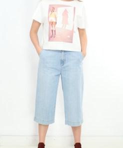 Pantaloni z short light denimi
