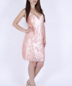 Rochie zara roz cu paiete siren kalia