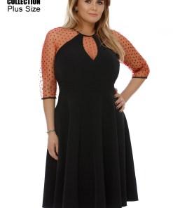 Rochie Plus Size Danielle Roşie