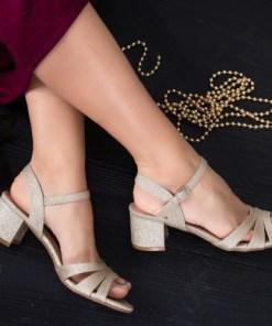 Sandale Codisa aurii cu toc