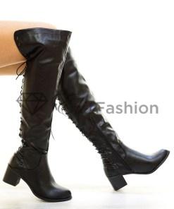 Cizme Leather Black #3215