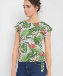 Tricou cu print exotic
