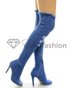 Cizme Gorgeous Blue Jeans #4662
