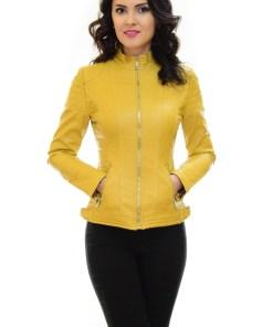 Geaca de Piele Have a Choice Yellow