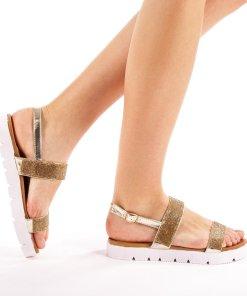 Sandale dama Alma aurii
