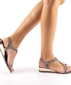 Sandale dama Holman gri inchis