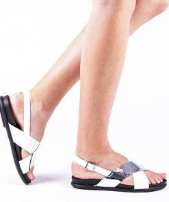 Sandale dama Verena argintii
